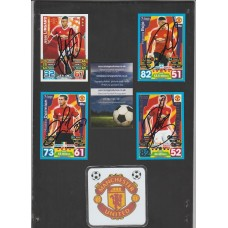 TOPPS MATCH ATTAX card signed by MANCHESTER UNITED footballer JESSE LINGARD