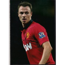 Signed photo of Jonny Evans the Manchester United footballer.
