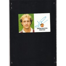Footballer Jordi Cruyff autographed official Manchester United card.