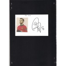 Signed picture of Juan Mata the Manchester United footballer.