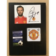 Juan Mata signed official Manchester United photocard