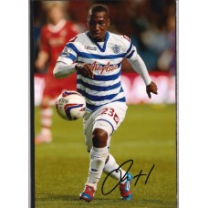 SALE. Signed photo of Junior Hoilett the Queens Park Rangers (QPR) footballer.