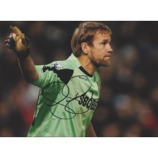 Signed photo of Jussi Jaaskelainen the West Ham United footballer.