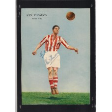 Signed picture of Ken Thomson the Stoke City footballer.