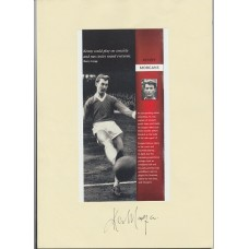Signed picture of Kenny Morgans the Manchester United footballer.