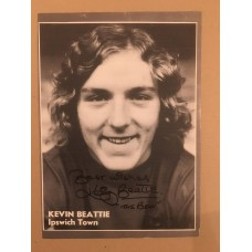 Signed picture of Kevin Beattie the Ipswich Town footballer