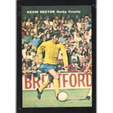 Signed picture of Kevin Hector the Derby County footballer.
