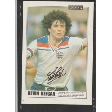 SIGNED picture of Kevin Keegan the ENGLAND footballer.