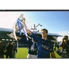 Signed photo of Kevin Ratcliffe the Everton footballer.