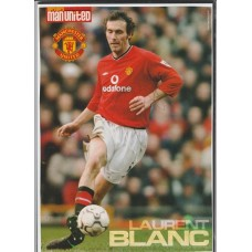 Signed picture of Laurent Blanc the Manchester United footballer.