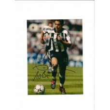SALE: Signed photo of Laurent Robert the Newcaste United Footballer
