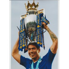 Signed photo of Leonardo Ulloa the Leicester City Footballer.