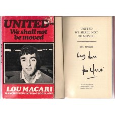 Signed book by Manchester United, Celtic & Scotland footballer Lou Macari