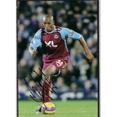 Signed photo of Luis Boa Morte the West Ham United footballer.