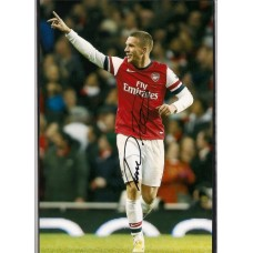 Signed photo of Lukas Podolski the Arsenal footballer.