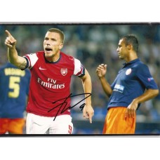 World Cup: Signed photo of Lukas Podolski the Arsenal footballer