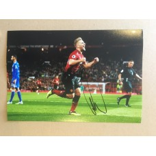 Signed photo of Luke Shaw the Manchester United footballer.