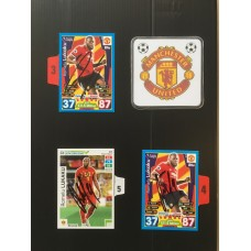 Signed card by ROMELU LUKAKU the MANCHESTER UNITED footballer.