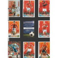 TOPPS Match Attax card hand signed by MANCHESTER UNITED footballer CHRIS SMALLING