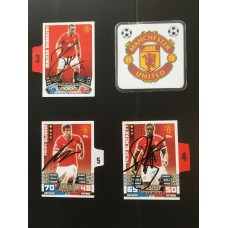 Signed card by TYLER BLACKETT the MANCHESTER UNITED footballer.