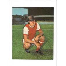 Signed picture of Malcolm McDonald the Arsenal Footballer