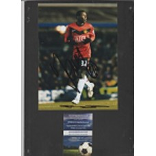Signed photo of Mame Biram Diouf the Manchester United footballer.