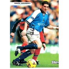 Signed picture of Mark Kennedy the Manchester City footballer.