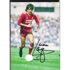 Signed photo of Mark Lawrenson the Liverpool footballer.