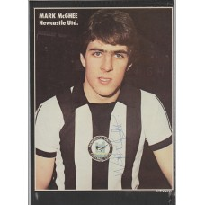 Signed picture of Mark McGhee the Newcastle United footballer