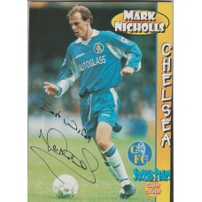 Signed picture of Mark Nicholls the Chelsea footballer.