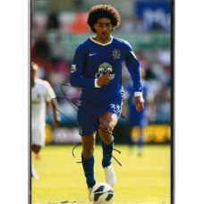 Signed photo of Marouane Fellaini the Everton footballer.