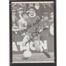 Autographed picture of Martin Buchan the  Aberdeen footballer.
