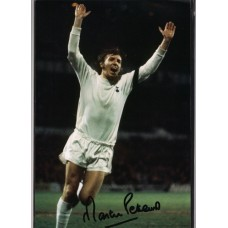 Signed photo of Martin Peters the Tottenham Hotspur footballer.