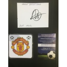 Signed plain card by MASON GREENWOOD the Manchester United footballer.