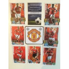 MATCH ATTAX card signed by RIO FERDINAND the MANCHESTER UNITED footballer.
