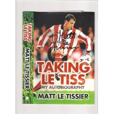 Signed book by former Southampton and England footballer Matt Le Tissier