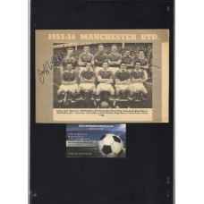 Manchester United 1955-56 Team picture signed by Wilf McGuinness and Jeff Whitefoot.