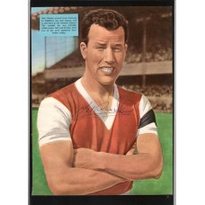 Signed portrait of Mel Charles the Arsenal footballer.