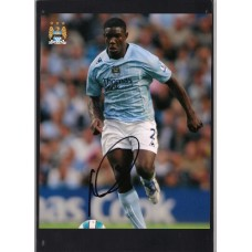 Signed photo of Micah Richards the Manchester City footballer.
