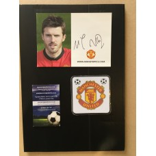 Michael Carrick signed official Manchester United photocard