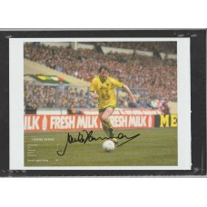 Signed picture of Mick Channon the Norwich City footballer.