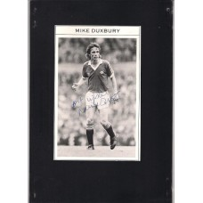 Signed picture of Mike Duxbury the Manchester United footballer. SORRY SOLD