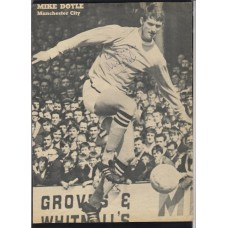 Signed picture of Mike Doyle the Manchester City footballer.