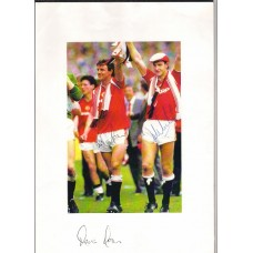 Kevin Moran and Norman Whiteside signed picture.