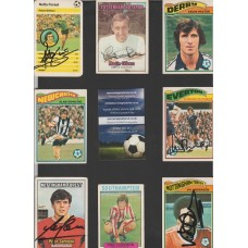 A&BC card hand signed by SOUTHAMPTON footballer MIKE CHANNON.