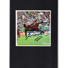Signed colour picture of Nani the Manchester United football.