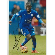 Signed photo of NGolo Kante the Leicester City footballer