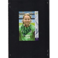 Signed official Manchester City Nick Weaver photo card