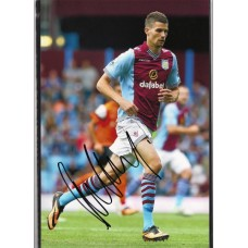 Signed photo of Nicklas Helenius the Aston Villa footballer.