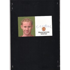 Footballer Nicky Butt autographed official Manchester United card.